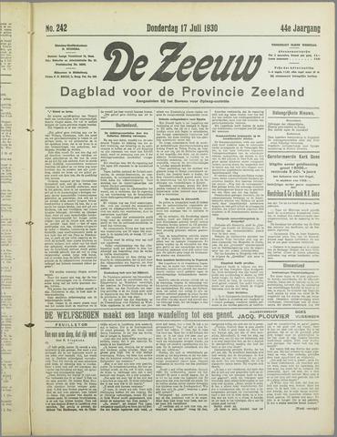 De Zeeuw. Christelijk-historisch nieuwsblad voor Zeeland 1930-07-17