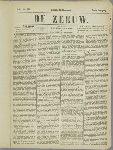 De Zeeuw. Christelijk-historisch nieuwsblad voor Zeeland 1890-09-30