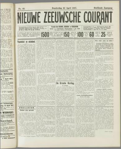 Nieuwe Zeeuwsche Courant 1917-04-12
