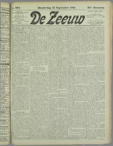 De Zeeuw. Christelijk-historisch nieuwsblad voor Zeeland 1921-09-15