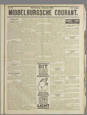 Middelburgsche Courant 1925-10-01