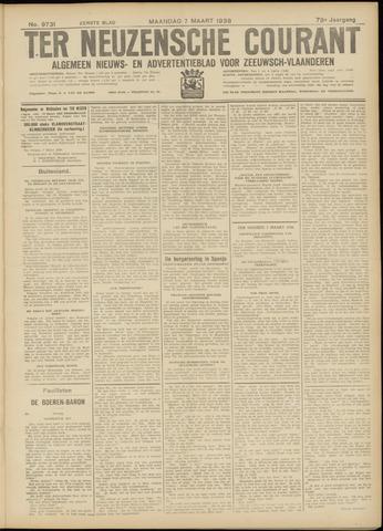 Ter Neuzensche Courant. Algemeen Nieuws- en Advertentieblad voor Zeeuwsch-Vlaanderen / Neuzensche Courant ... (idem) / (Algemeen) nieuws en advertentieblad voor Zeeuwsch-Vlaanderen 1938-03-07