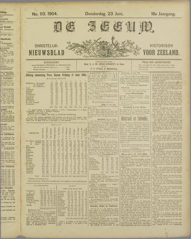 De Zeeuw. Christelijk-historisch nieuwsblad voor Zeeland 1904-06-23