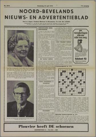 Noord-Bevelands Nieuws- en advertentieblad 1974-04-25