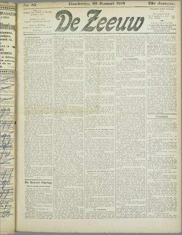 De Zeeuw. Christelijk-historisch nieuwsblad voor Zeeland 1918-01-10