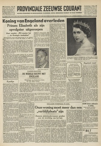 Provinciale Zeeuwse Courant 1952-02-07