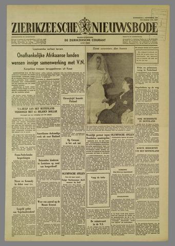 Zierikzeesche Nieuwsbode 1960-09-01