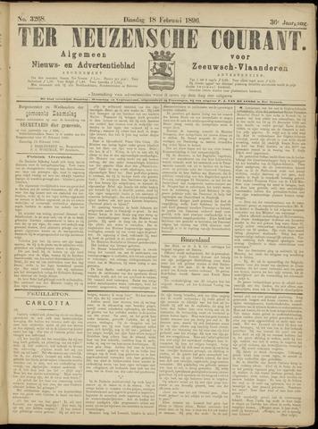 Ter Neuzensche Courant. Algemeen Nieuws- en Advertentieblad voor Zeeuwsch-Vlaanderen / Neuzensche Courant ... (idem) / (Algemeen) nieuws en advertentieblad voor Zeeuwsch-Vlaanderen 1896-02-18