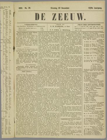 De Zeeuw. Christelijk-historisch nieuwsblad voor Zeeland 1890-12-30