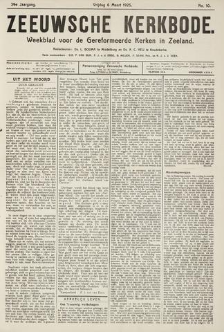 Zeeuwsche kerkbode, weekblad gewijd aan de belangen der gereformeerde kerken/ Zeeuwsch kerkblad 1925-03-06