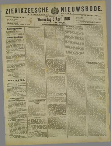 Zierikzeesche Nieuwsbode 1916-04-05