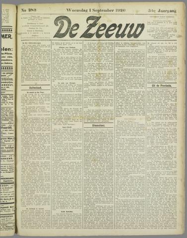 De Zeeuw. Christelijk-historisch nieuwsblad voor Zeeland 1920-09-01