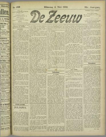 De Zeeuw. Christelijk-historisch nieuwsblad voor Zeeland 1921-05-03