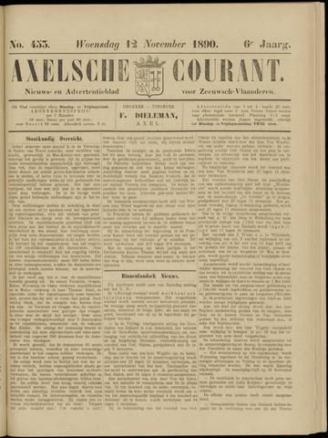 Axelsche Courant 1890-11-12