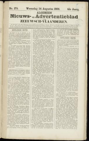 Ter Neuzensche Courant. Algemeen Nieuws- en Advertentieblad voor Zeeuwsch-Vlaanderen / Neuzensche Courant ... (idem) / (Algemeen) nieuws en advertentieblad voor Zeeuwsch-Vlaanderen 1864-08-24
