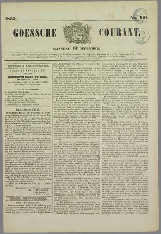 Goessche Courant 1852-12-13