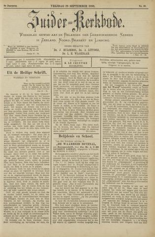 Zuider Kerkbode, Weekblad gewijd aan de belangen der gereformeerde kerken in Zeeland, Noord-Brabant en Limburg. 1899-09-29