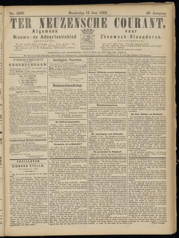 Ter Neuzensche Courant. Algemeen Nieuws- en Advertentieblad voor Zeeuwsch-Vlaanderen / Neuzensche Courant ... (idem) / (Algemeen) nieuws en advertentieblad voor Zeeuwsch-Vlaanderen 1903-06-11