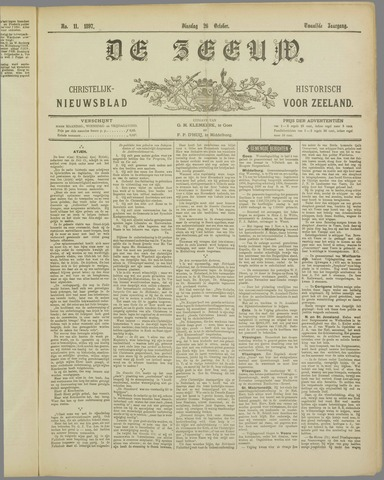 De Zeeuw. Christelijk-historisch nieuwsblad voor Zeeland 1897-10-26