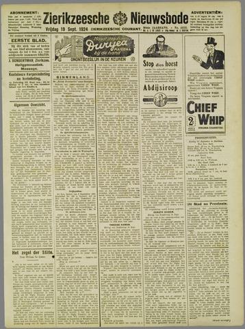 Zierikzeesche Nieuwsbode 1924-09-19