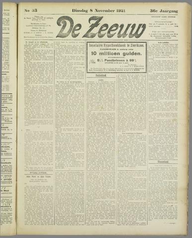 De Zeeuw. Christelijk-historisch nieuwsblad voor Zeeland 1921-11-08