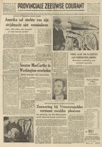 Provinciale Zeeuwse Courant 1957-05-03