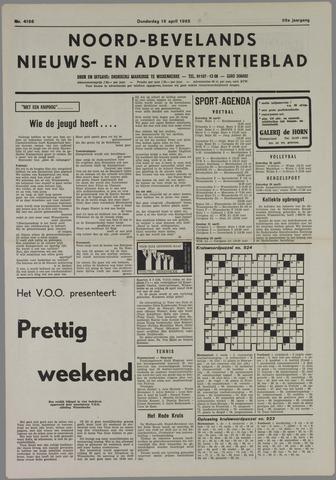 Noord-Bevelands Nieuws- en advertentieblad 1985-04-18