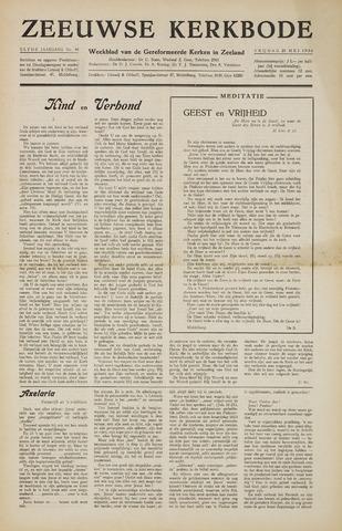 Zeeuwsche kerkbode, weekblad gewijd aan de belangen der gereformeerde kerken/ Zeeuwsch kerkblad 1956-05-25