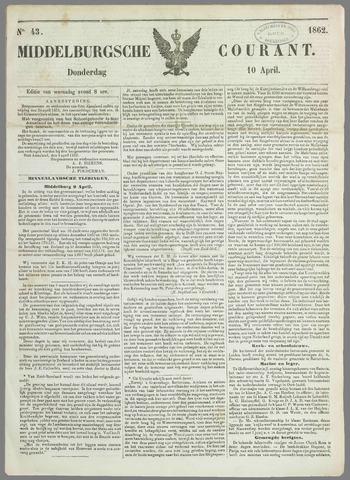 Middelburgsche Courant 1862-04-10