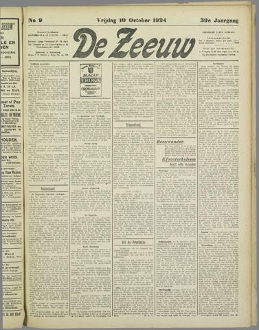 De Zeeuw. Christelijk-historisch nieuwsblad voor Zeeland 1924-10-10