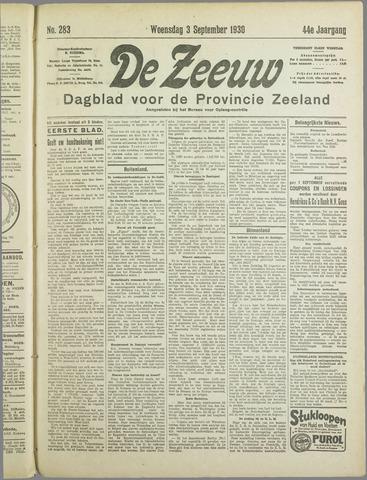 De Zeeuw. Christelijk-historisch nieuwsblad voor Zeeland 1930-09-03