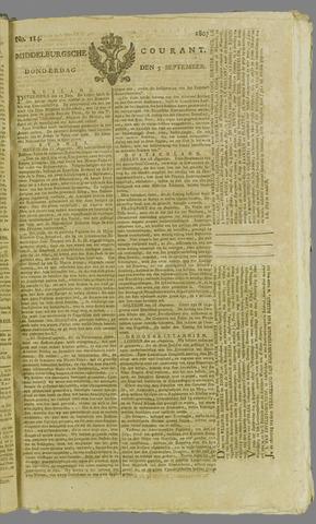 Middelburgsche Courant 1807-09-03