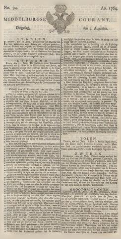 Middelburgsche Courant 1764-08-07