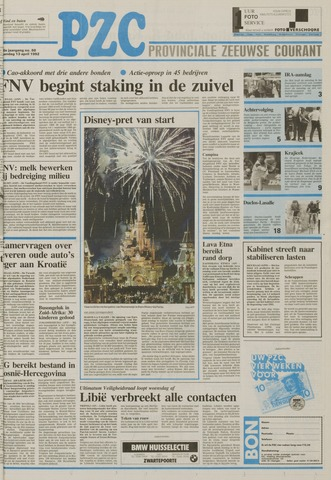 Provinciale Zeeuwse Courant 1992-04-13