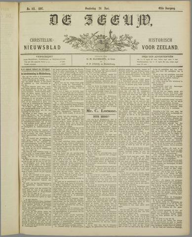 De Zeeuw. Christelijk-historisch nieuwsblad voor Zeeland 1897-06-24