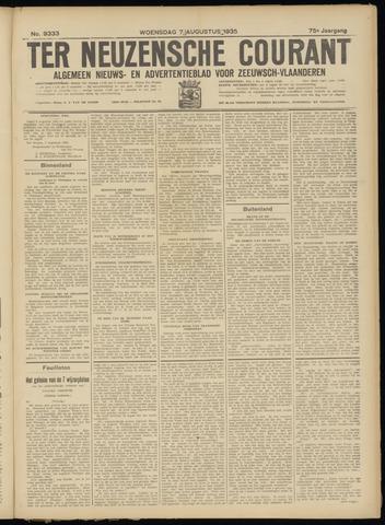 Ter Neuzensche Courant. Algemeen Nieuws- en Advertentieblad voor Zeeuwsch-Vlaanderen / Neuzensche Courant ... (idem) / (Algemeen) nieuws en advertentieblad voor Zeeuwsch-Vlaanderen 1935-08-07