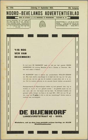 Noord-Bevelands Nieuws- en advertentieblad 1932-09-17