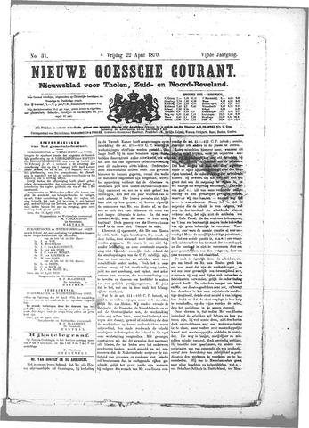 Nieuwe Goessche Courant 1870-04-22