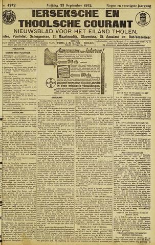 Ierseksche en Thoolsche Courant 1932-09-23
