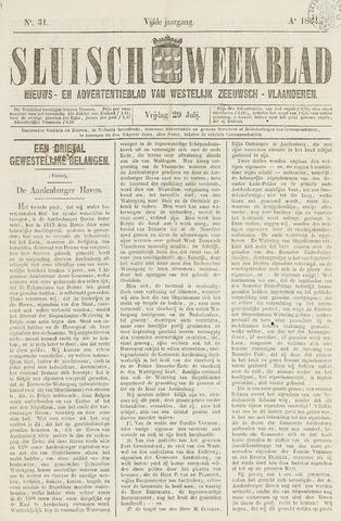 Sluisch Weekblad. Nieuws- en advertentieblad voor Westelijk Zeeuwsch-Vlaanderen 1864-07-29