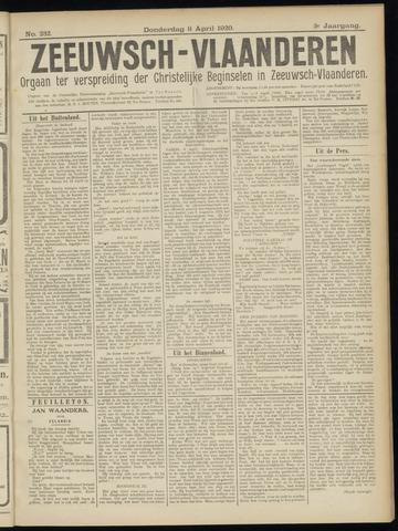 Luctor et Emergo. Antirevolutionair nieuws- en advertentieblad voor Zeeland / Zeeuwsch-Vlaanderen. Orgaan ter verspreiding van de christelijke beginselen in Zeeuwsch-Vlaanderen 1920-04-08