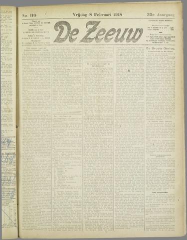 De Zeeuw. Christelijk-historisch nieuwsblad voor Zeeland 1918-02-08