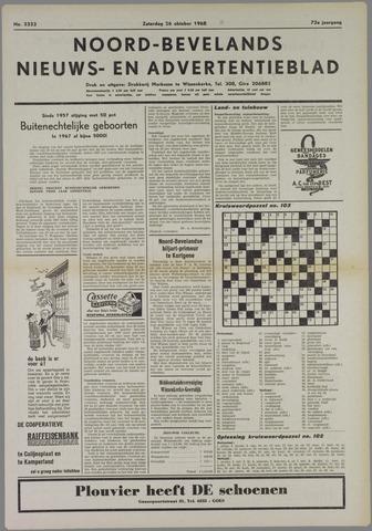 Noord-Bevelands Nieuws- en advertentieblad 1968-10-26