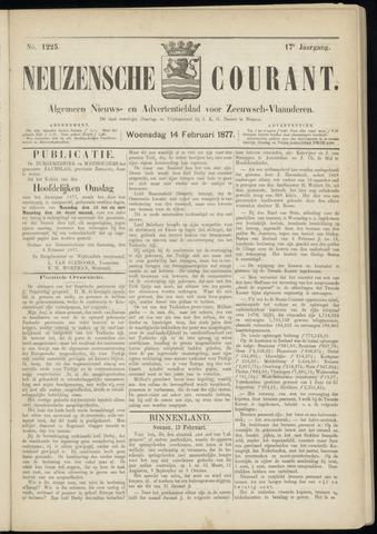 Ter Neuzensche Courant. Algemeen Nieuws- en Advertentieblad voor Zeeuwsch-Vlaanderen / Neuzensche Courant ... (idem) / (Algemeen) nieuws en advertentieblad voor Zeeuwsch-Vlaanderen 1877-02-14