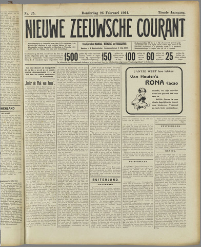 Nieuwe Zeeuwsche Courant 1914-02-26