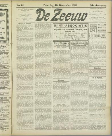 De Zeeuw. Christelijk-historisch nieuwsblad voor Zeeland 1921-12-10