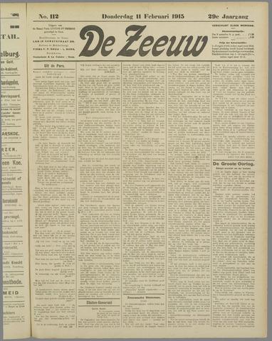 De Zeeuw. Christelijk-historisch nieuwsblad voor Zeeland 1915-02-11