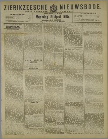 Zierikzeesche Nieuwsbode 1915-04-19