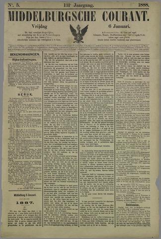 Middelburgsche Courant 1888-01-06