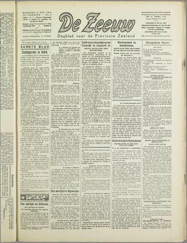 De Zeeuw. Christelijk-historisch nieuwsblad voor Zeeland 1937-10-11